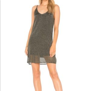 Metallic Knit Slip Dress